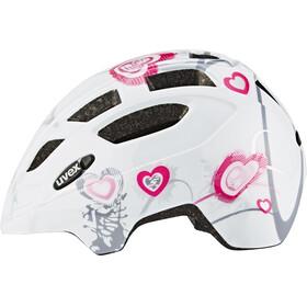 UVEX Finale Junior Helmet heart white pink